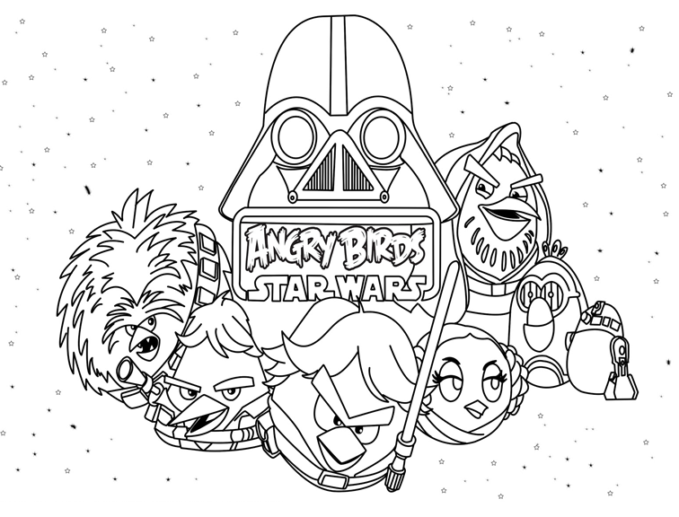 Angry bird star wars coloring pages - photo#34