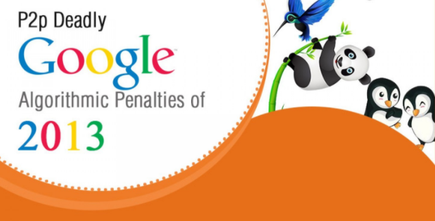 Google Algorithmic Penalties Of 2013 [Infographic]