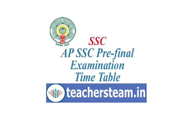 SSC Pre-final Examination Schedule