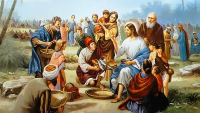 Jesus multiplica pães e peixes