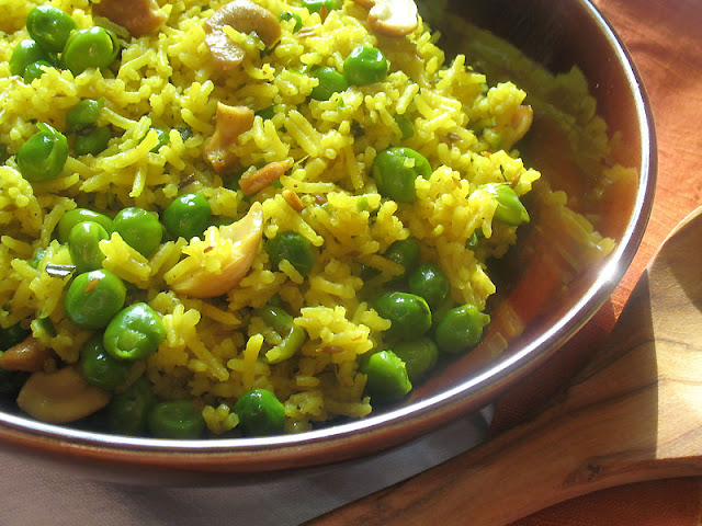 green pea pilaf