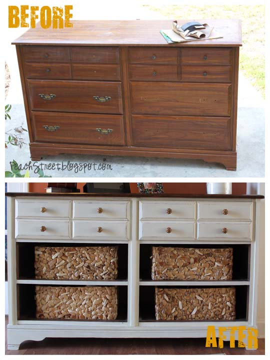 Furniture Revivals of a pottery barn inspired media console