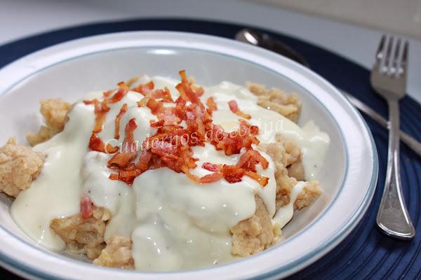 Receta del día: coliflor con bechamel y crujiente de beicon