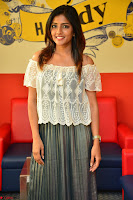 Eesha in a cute deep neck top and Skirt at at Big FM 086.JPG