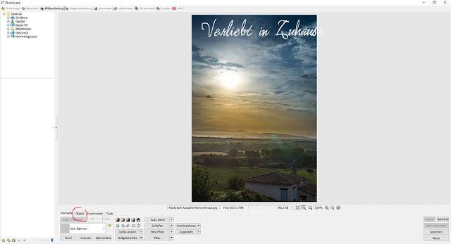 PhotoScape Anleitung und Schritt für Schritt mit Bilder-Tutorial: Objekt einfügen