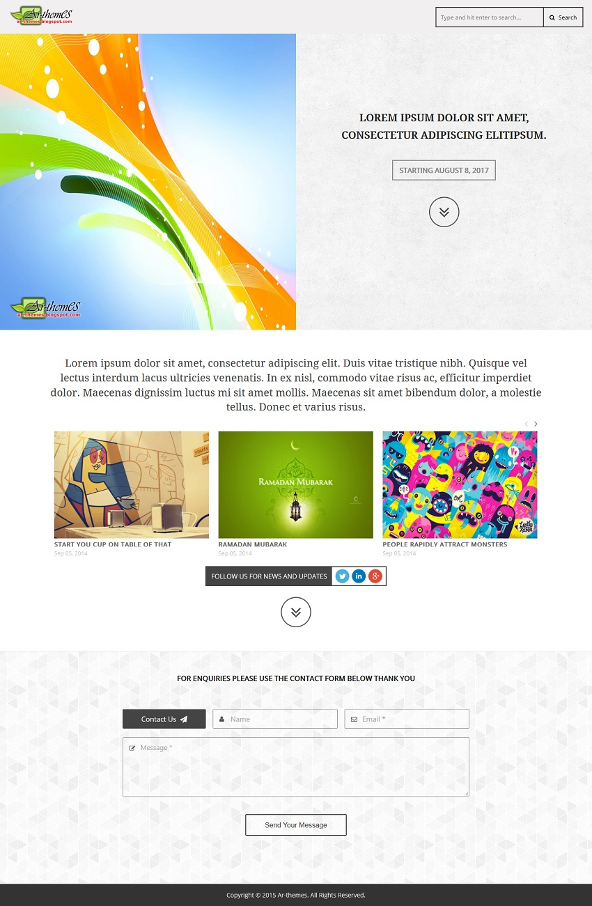 Landing Page Responsive Blogger Template Demo