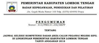 Jadwal Tes SKD CPNS Kabupaten Lombok Tengah