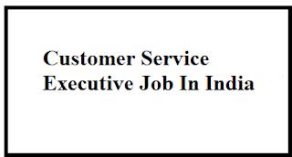 Customer Service Executive Job In India