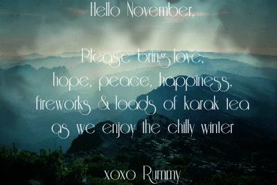 rummy s scribblings hello november