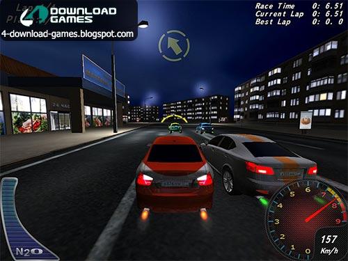 لعبة سباق سيارات الليل Night Street Racing مجانا