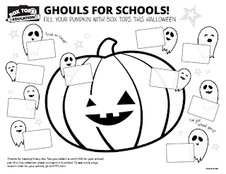 Halloween Box Tops Coloring Sheet