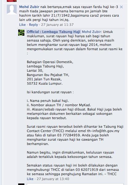 Permohonan Rayuan Haji Berikut Contoh Surat Rayuan