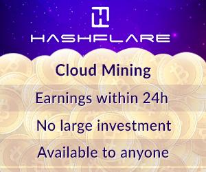 كوبون خصم بيقمة 12% على عقود التعدين مع Hashflare