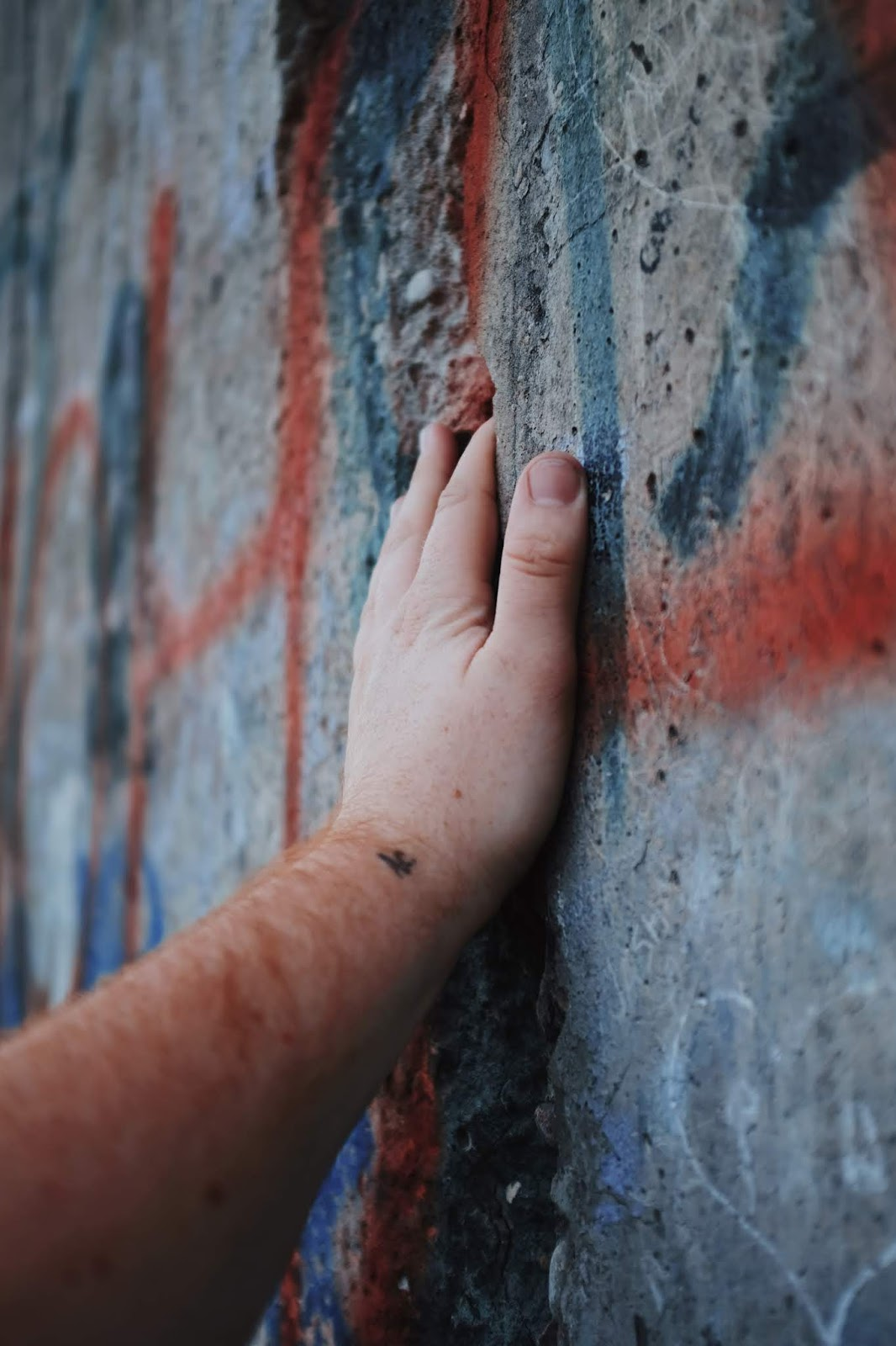 Touching the Berlin Wall