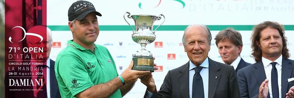 Il sudafricano Otto vincitore del trofeo. Foto: openditaliagolf.com