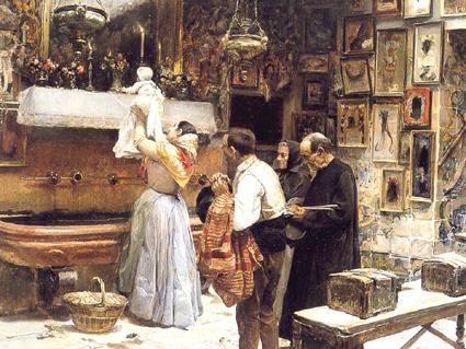 Pinturas Impresionistas Modernistas Y Neoimpresionistas El Beso De La Reliquia Joaquin Sorolla