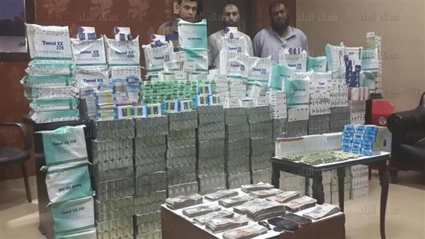 ضبط  نصف مليون  مخدر فى حملة أمنية بميت غمر