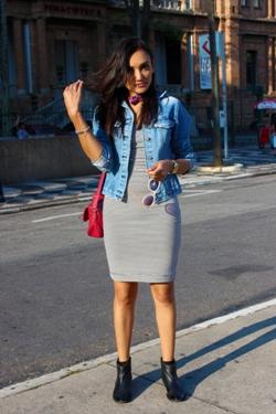 listras, zara, jaqueta jeans, botas cano baixo, pinacoteca, look do dia, blog de moda, stripes, lenço, ellus