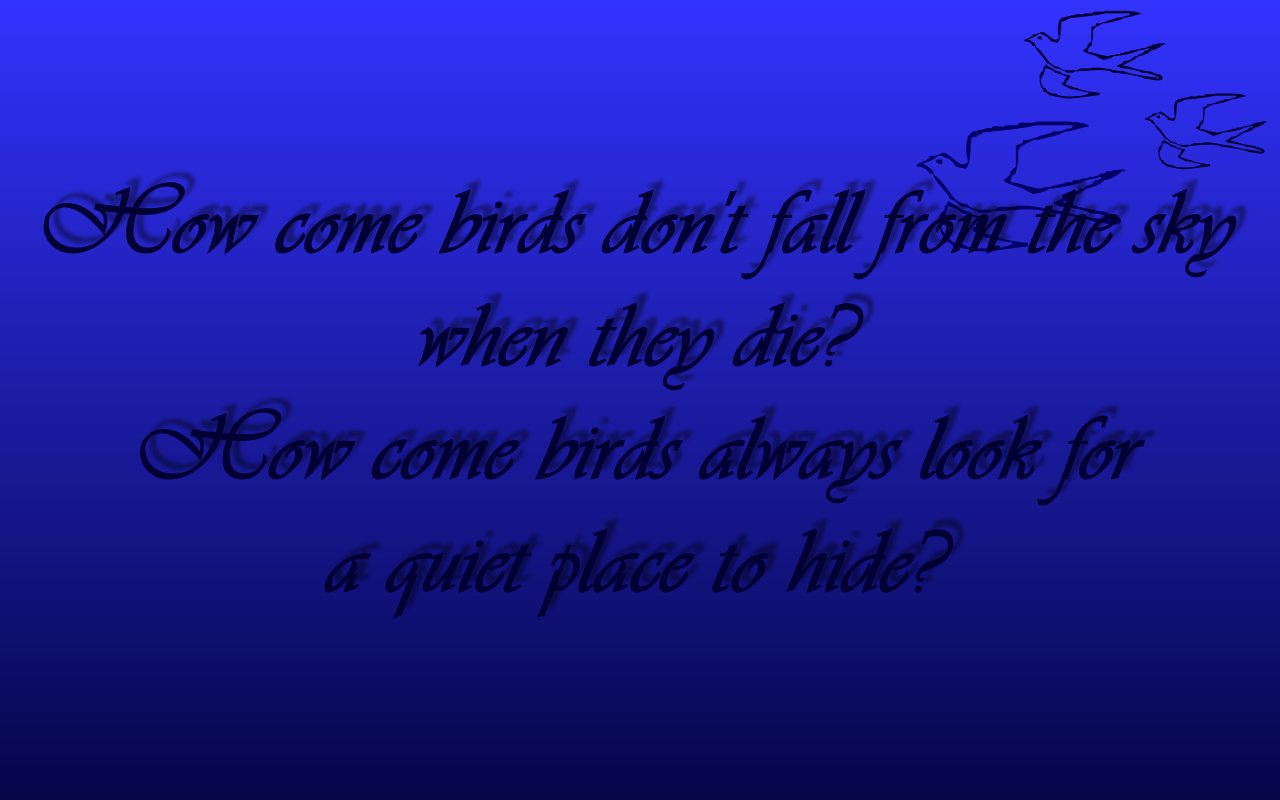Text Image Quotes: Song Lyric Quotes In Text Image: Birds