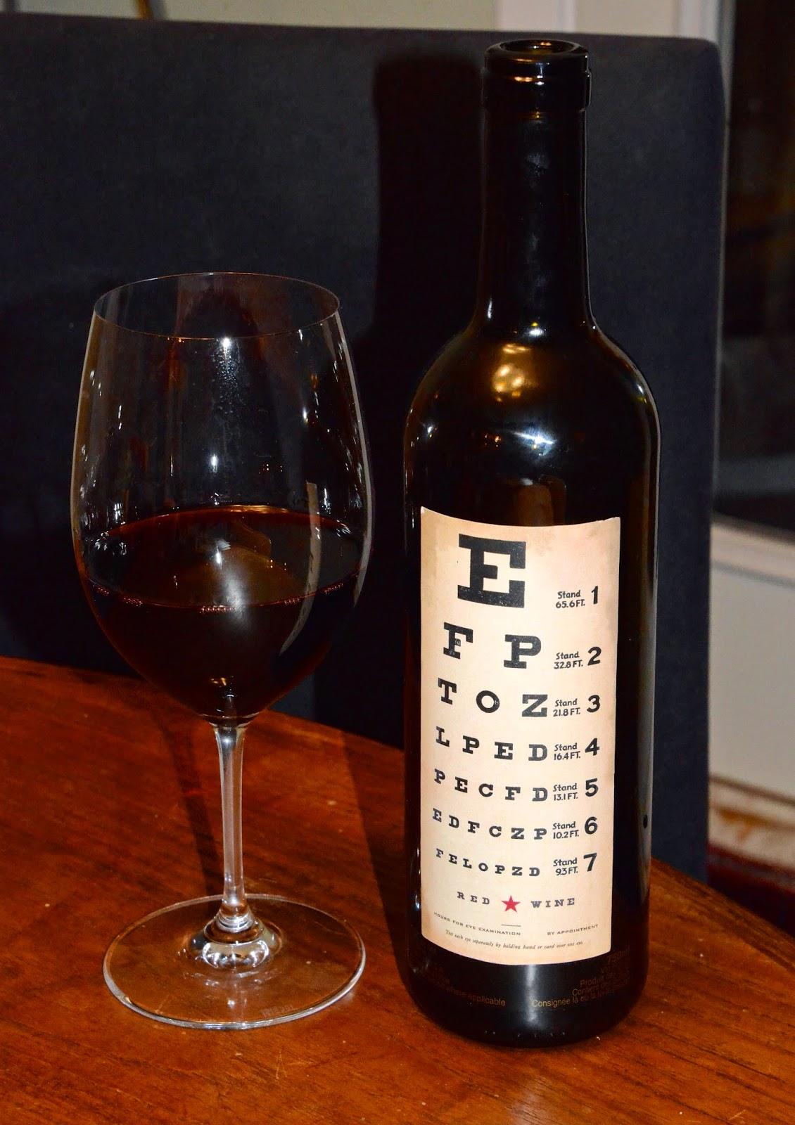 N V Eye Chart Wines Red Wine Blend California