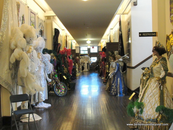 hallway inside the Mardi Gras Museum of Imperial Calcasieu in Lake Charles, Louisiana