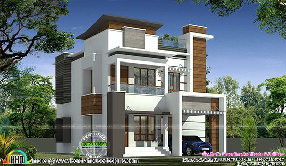 1616 sq-ft decorative contemporary house plan