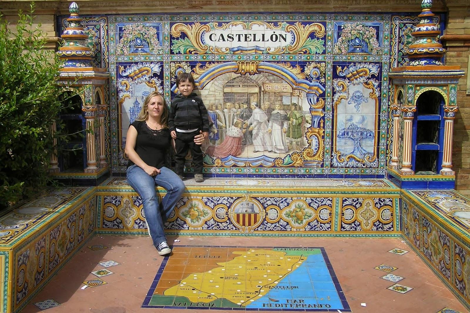 La plaza de España de Sevilla.