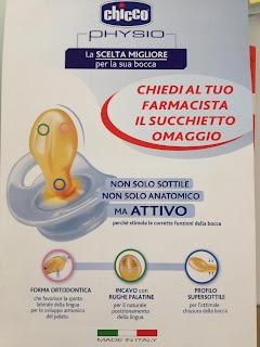 Logo Succhiotto Physio della Chicco omaggio!