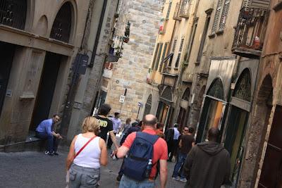 Via Colleoni in Bergamo