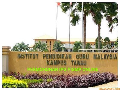 Permohonan IPG PISMP 2018 Online