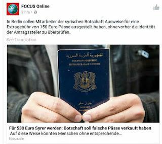 يقولون ان السفارة السورية تبيع الجوزات السفر للمواطين غير اصلين