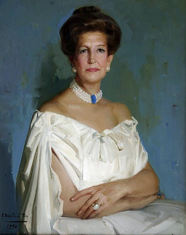 Retrato de Amanda, Félix Revello de Toro, Revello de Toro, Pintores Malagueños, Retratos de Revello de Toro, Pintor español, Pintores de Málaga