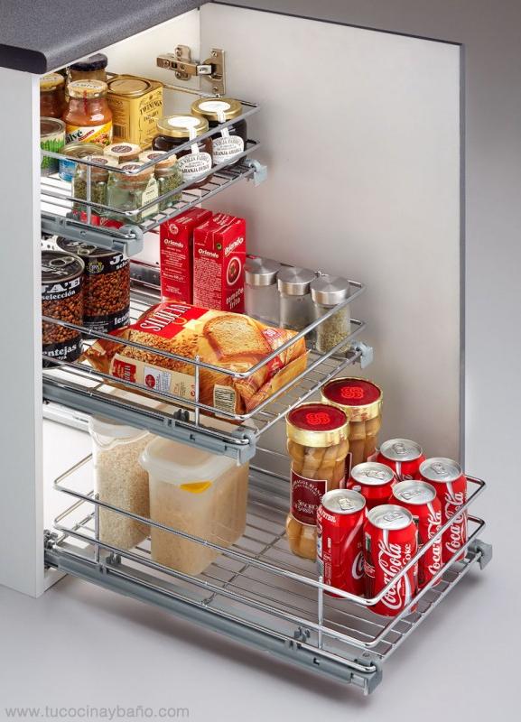 bandeja extraible armario cocina rejilla