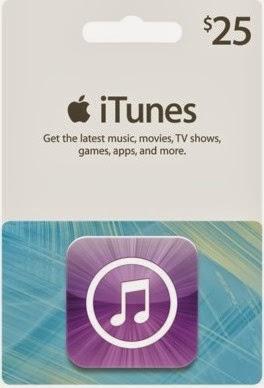 Tarjeta iTunes 25 dolares por PayPal para Argentina, Mexico, Perú, Colombia, Ecuador, Costa Rica, Panama y Latinoamerica