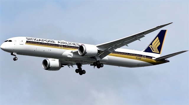 9v-sce b787-10 singapore airlines test flight