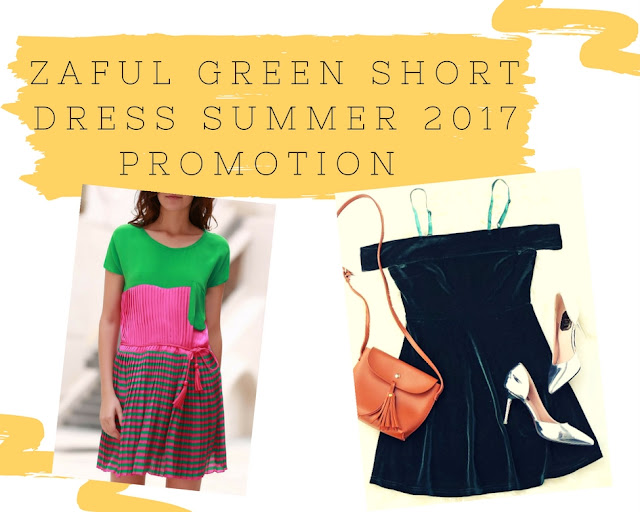 Zaful Green Short Dress Summer 2017 Promotion