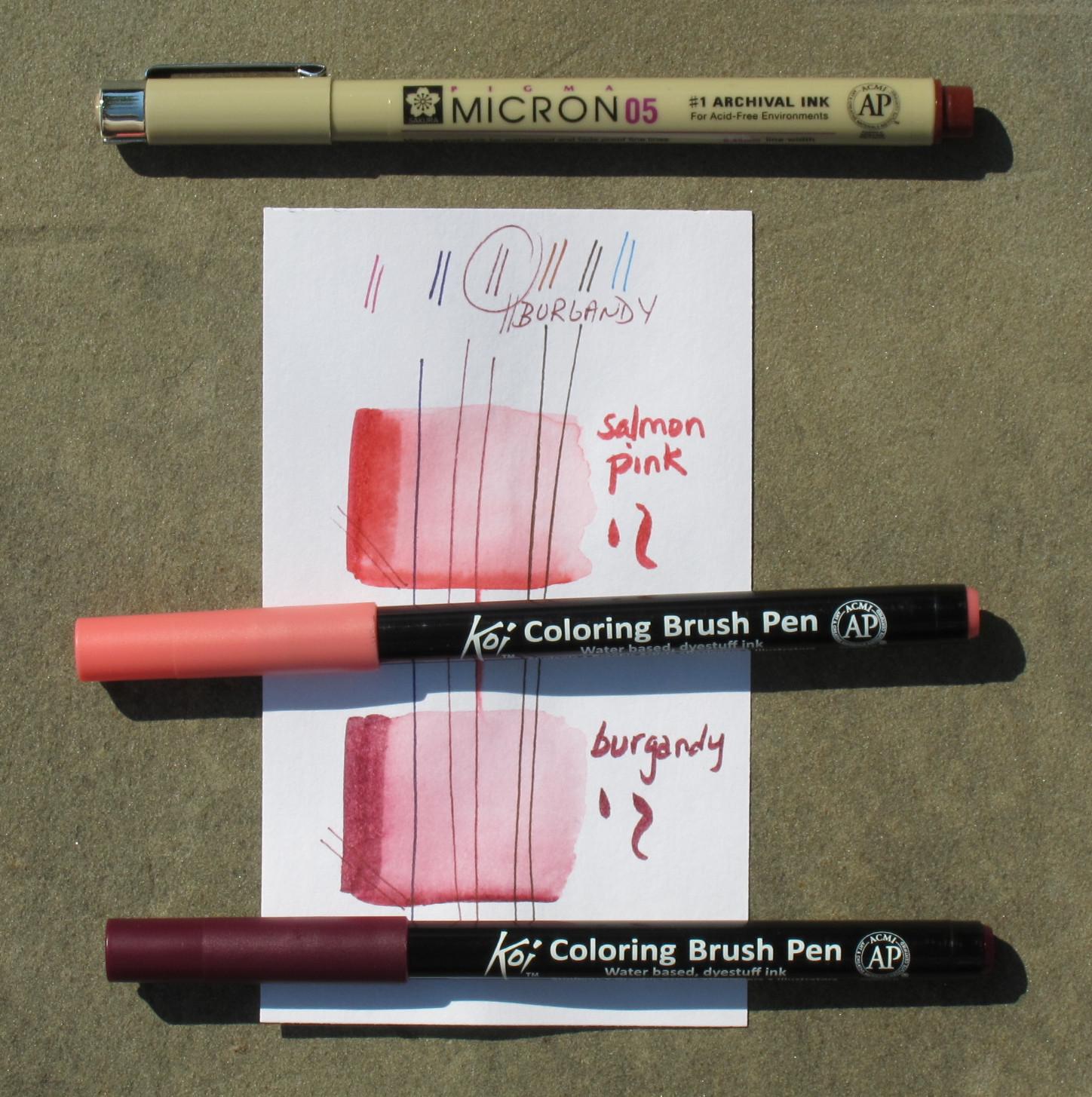 Beautiful Sakura Koi Coloring Brush Pens Photos - New Coloring Pages ...