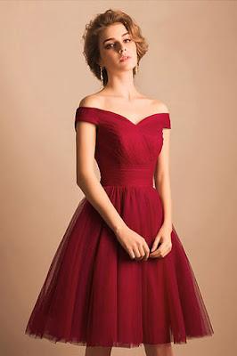 robe de soirée tutu courte avec épaule dégagé