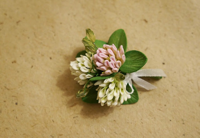 цветок клевера из фоамирана