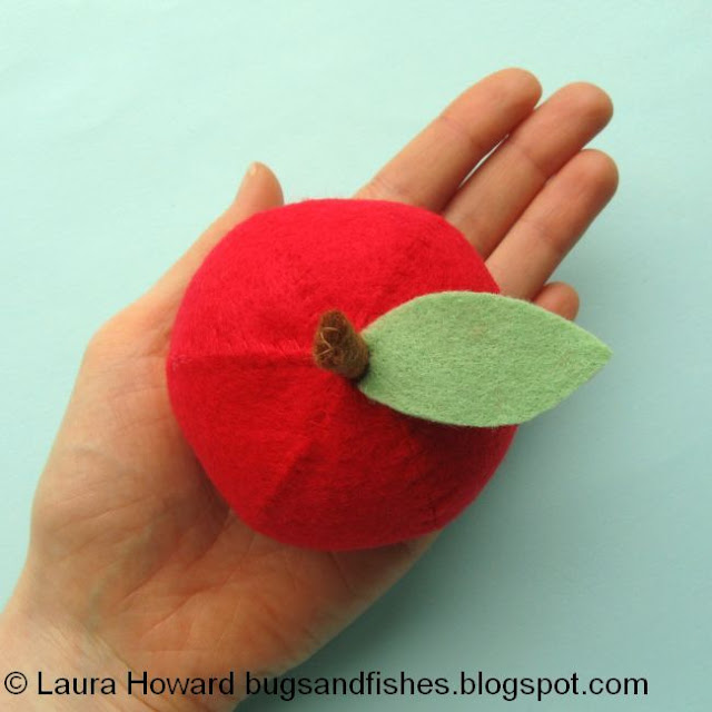 red felt apple