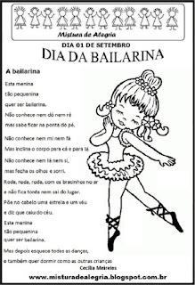 Atividade para o dia da bailarina