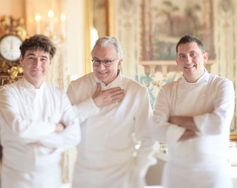 Handsome chefs at Louis XV restaurant ALAIN DUCASSE À L' HÔTEL DE PARIS