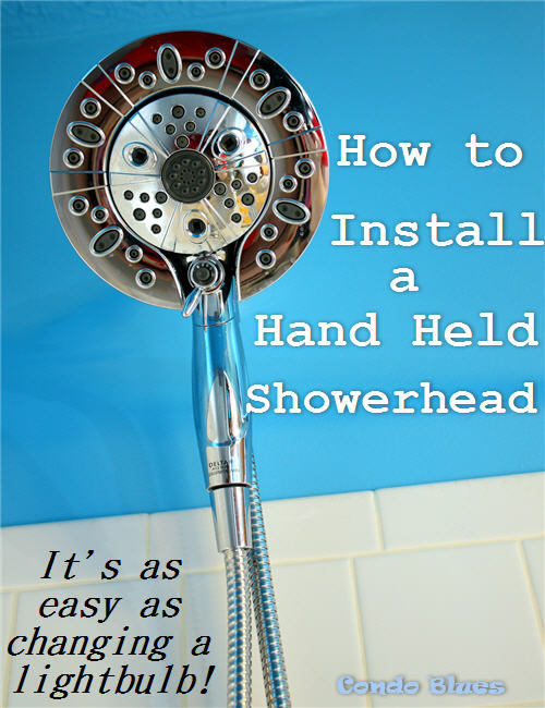 How to install a hand held shower head