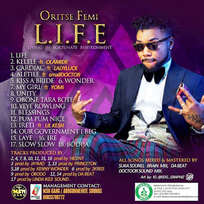 "oristse%2Bfemi%2B2 - ENTERTAINMENT: Oritse Femi's Forthcoming Album ""L.I.F.E"" features Olamide, Lil Kesh, Small Doctor 
