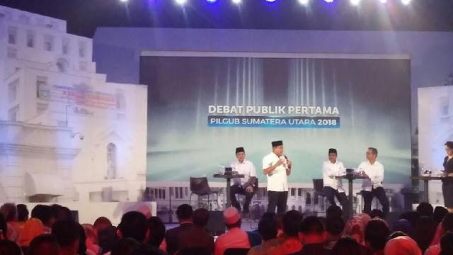 Debat Pilgubsu: Edy Tanya Dalihan Na Tolu, Begini Jawaban Djarot
