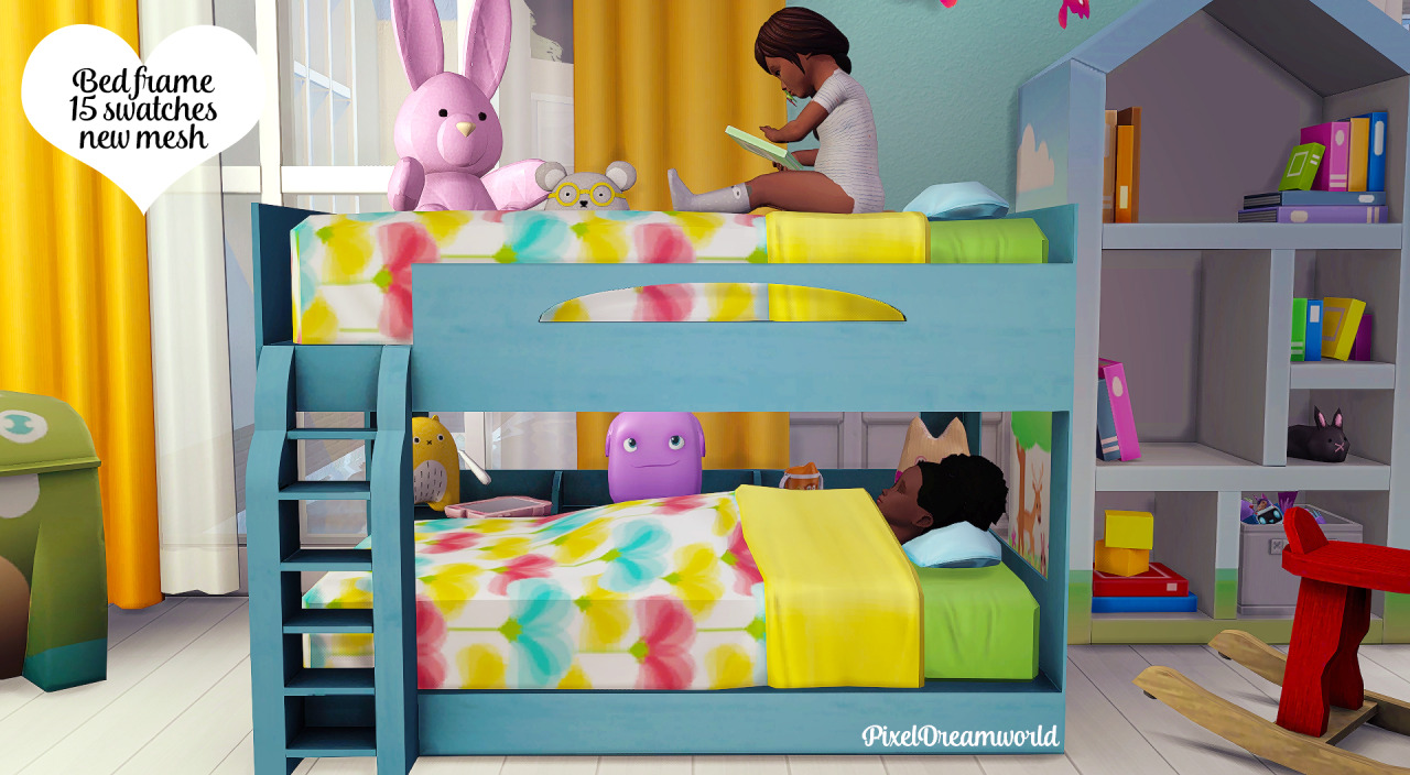 My Sims 4 Blog: Functional Toddler Bunk Bed Frame and Zero ...