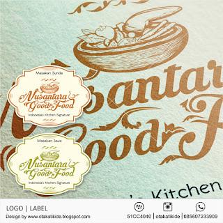 jasa desain logo label produk kuliner makanan ukm restoran kue minuman surabaya jakarta medan semarang bali solo