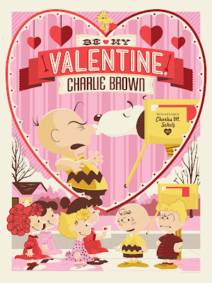 Be My Valentine, Charlie Brown Peanuts Standard Edition Screen Print by Jayson Weidel