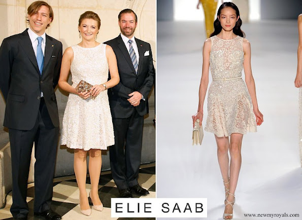 Princess Stephanie wearing Elie Saab Dress from Spring-Summer 2012