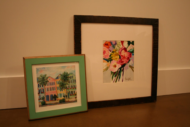 C. Brooke Ring Charleston Print and Kendall Kirk Painting in Handmade Signed & Numbered Frames